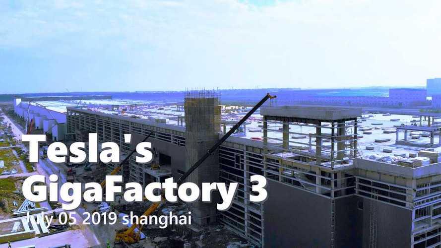 Tesla Gigafactory 3 Construction Progress July 5, 2019: Video