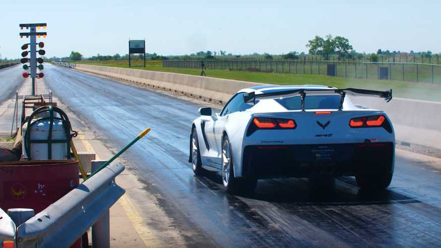 1,000-HP Hennessey Corvette ZR1 Does 1/4 Mile Below 10 Seconds