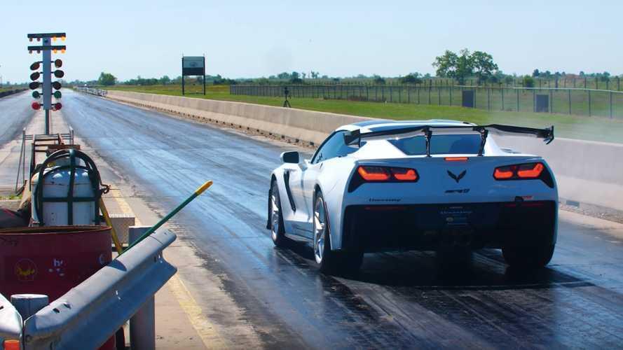 1,000-HP Hennessey Corvette ZR1 Does 1/4 Mile Below 10 Seconds