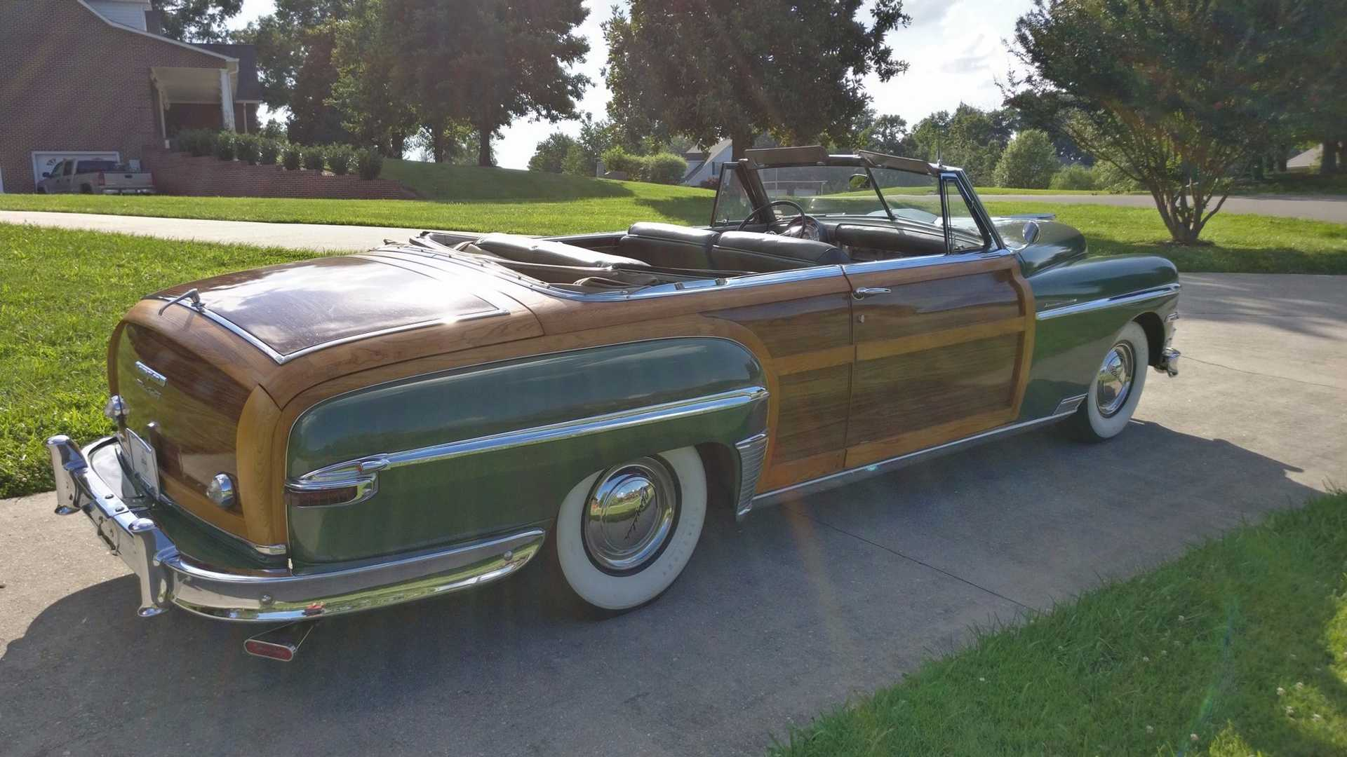 """[""""Drive Smooth And Stylish In This 1949 Chrysler Town And Country""""]"""