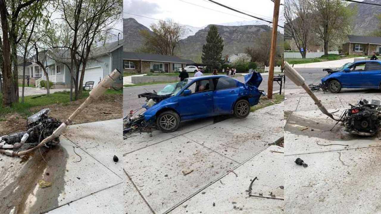 Subaru WRX Crash