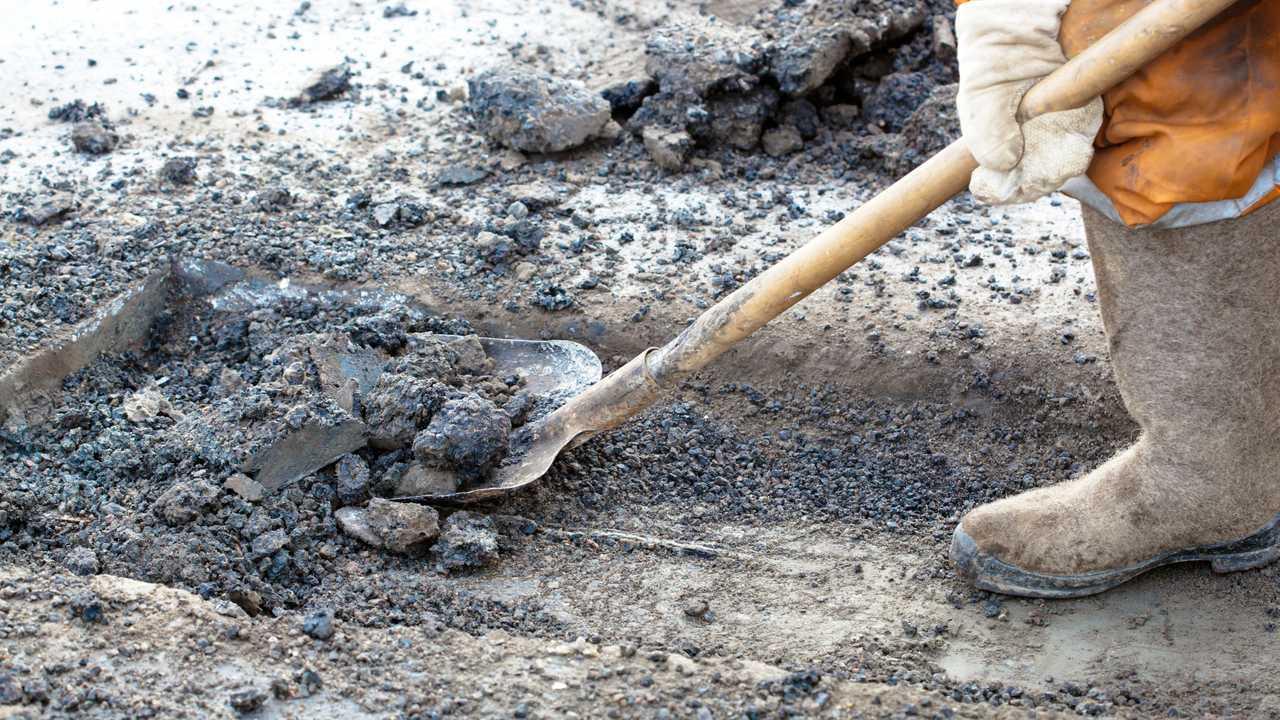 Pothole repair roadworks
