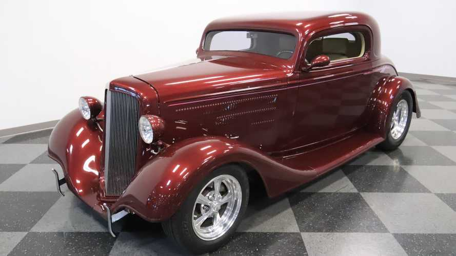 Maroon 1934 Chevrolet 3-Window Coupe Is Elegantly Aggressive