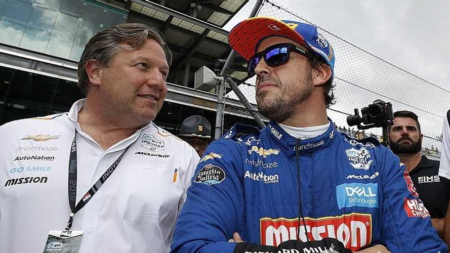 "Alonso tendría ""un enorme éxito"" en IndyCar, dice Brown"