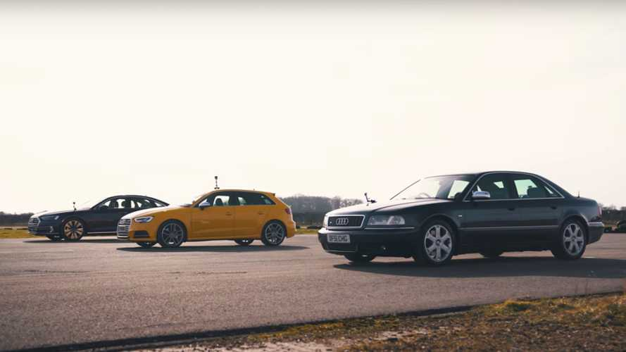 Old S8 Vs S3, A8 Diesel Drag Race