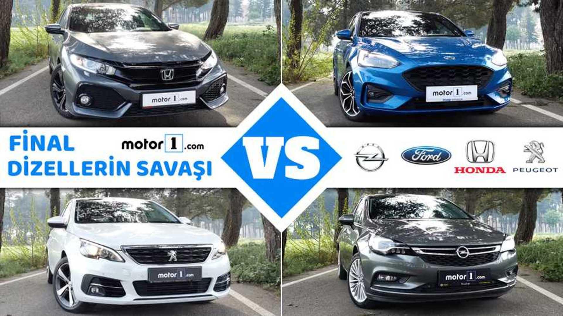 Honda Civic vs. Ford Focus vs. Opel Astra vs. Peugeot 308 | Drag Yarışı
