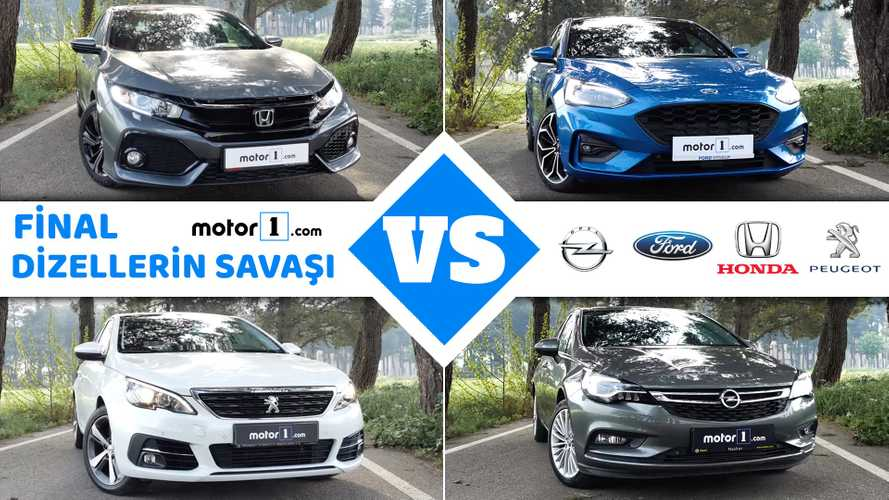 Honda Civic vs. Ford Focus vs. Opel Astra vs. Peugeot 308 | Drag Yarışı