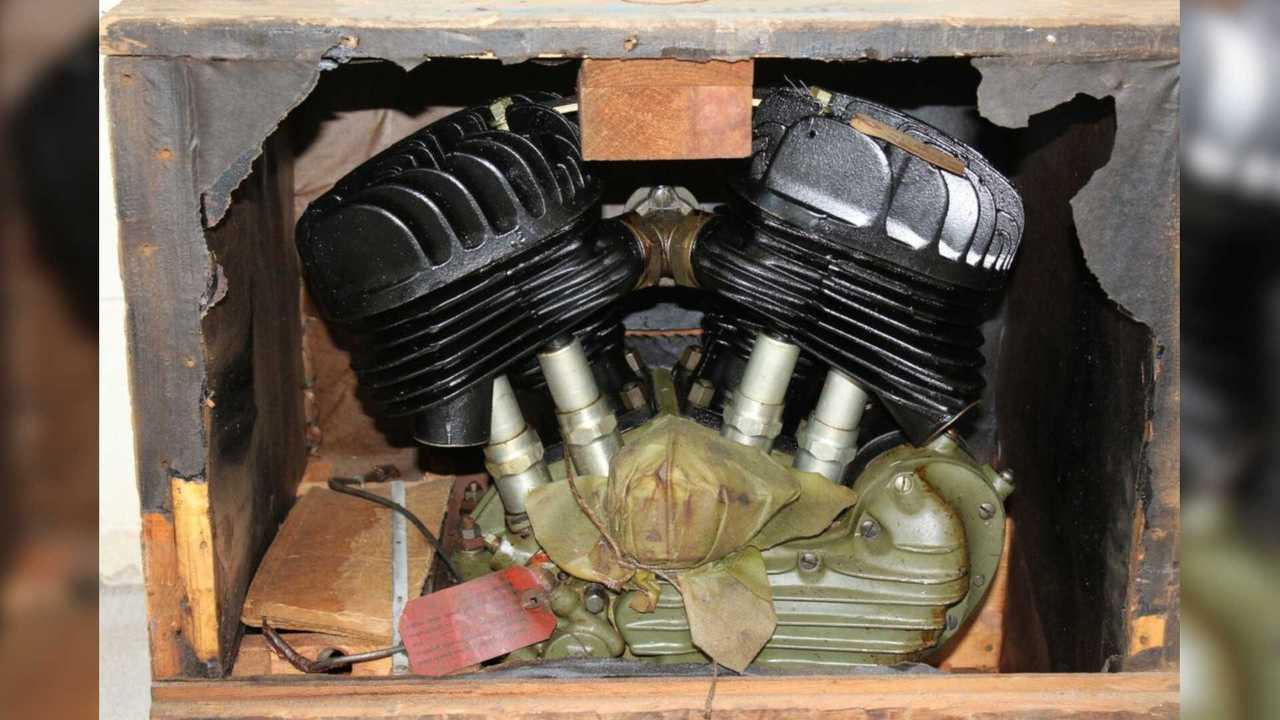 1942 Harley-Davidson WLA 45 Crated Engine
