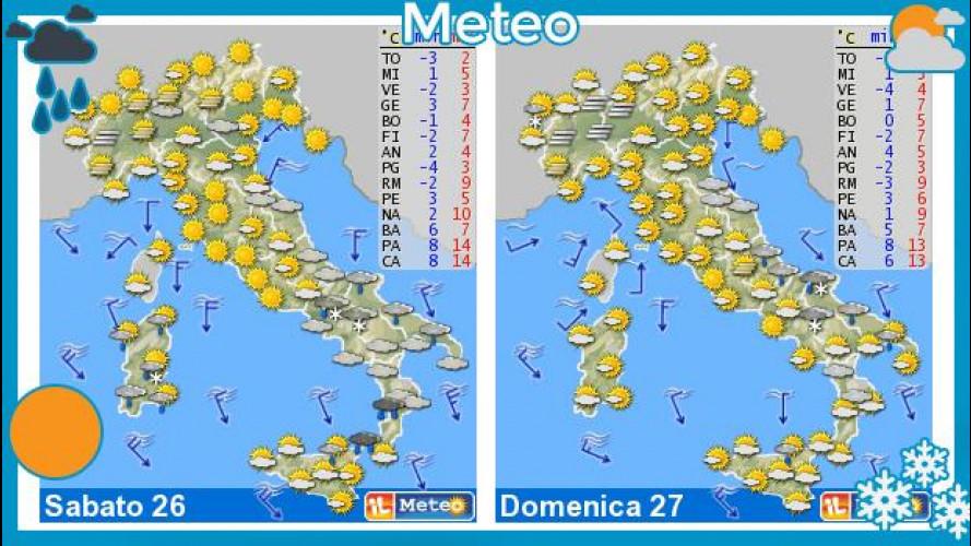 Il meteo del fine settimana 26-27 gennaio: weekend freddo ma con il sole