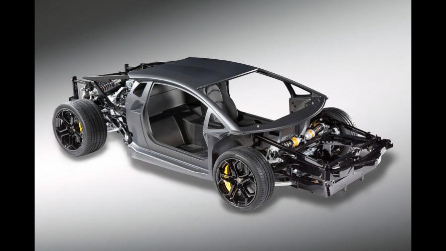 Nuova Lamborghini V12, il carbonio sotto la pelle