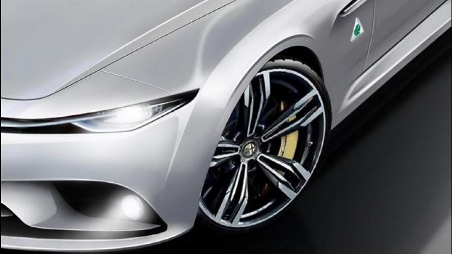 Alfa Romeo Giulia 2015, in Germania la immaginano così