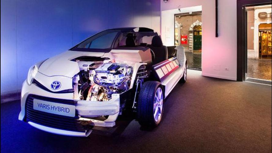 La tecnologia ibrida Toyota è esposta a Roma come in una boutique