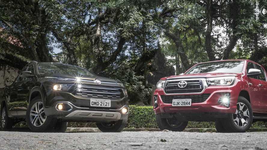 Comparativo Fiat Toro vs. Toyota Hilux: A próxima moda
