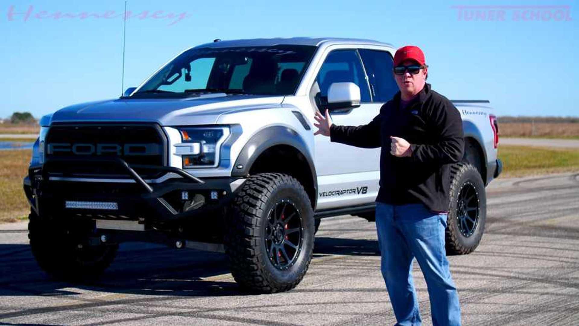 Ford Raptor Hennessey >> John Hennessey Shows Off Velociraptor V8 S Angry Growl