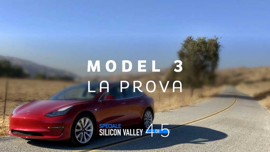 Tesla Model 3, la video prova sulle strade della Silicon Valley