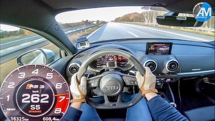 Audi RS3 Sedan kış lasikleriyle bile söylenenden hızlı