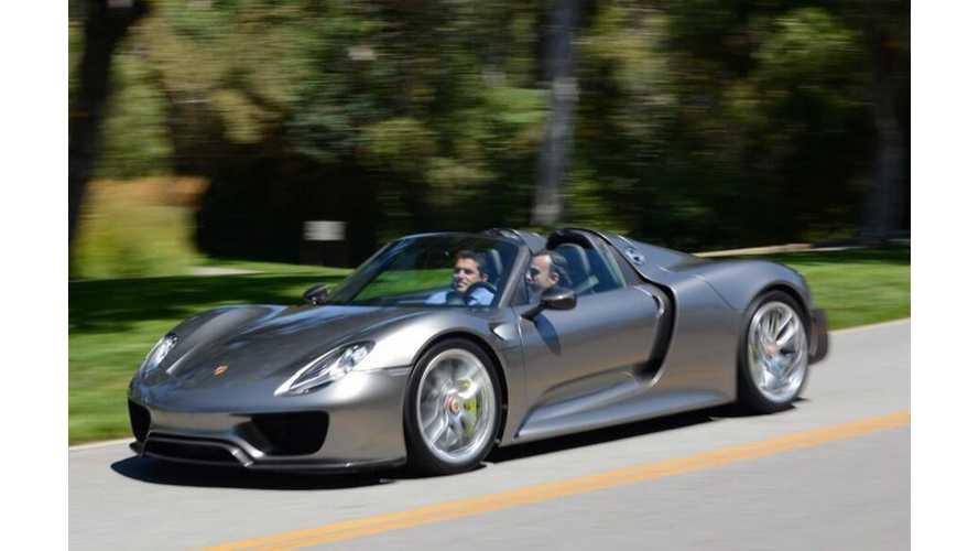 Porsche 918 Spyder Gets Revealed in True Production Form