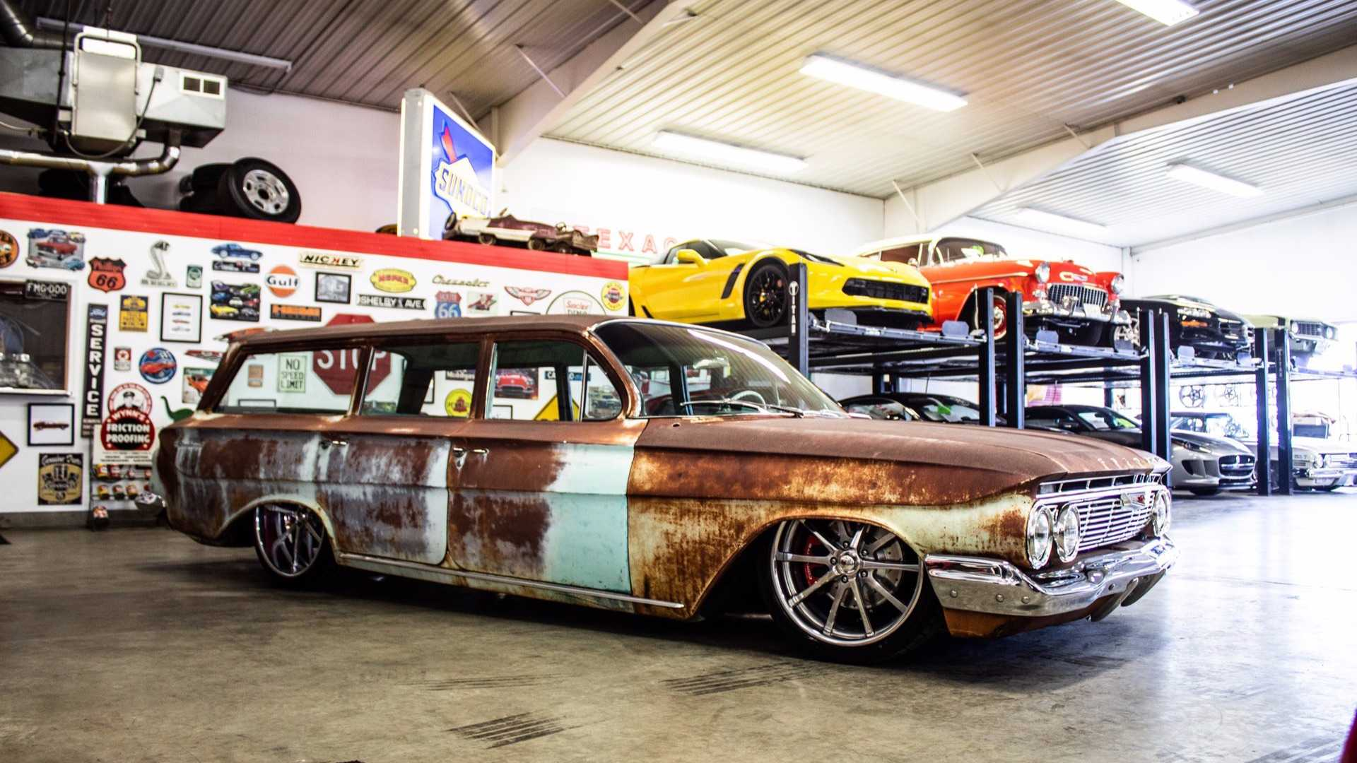 Patina Clad 1961 Brookwood Wagon Has Modern Power