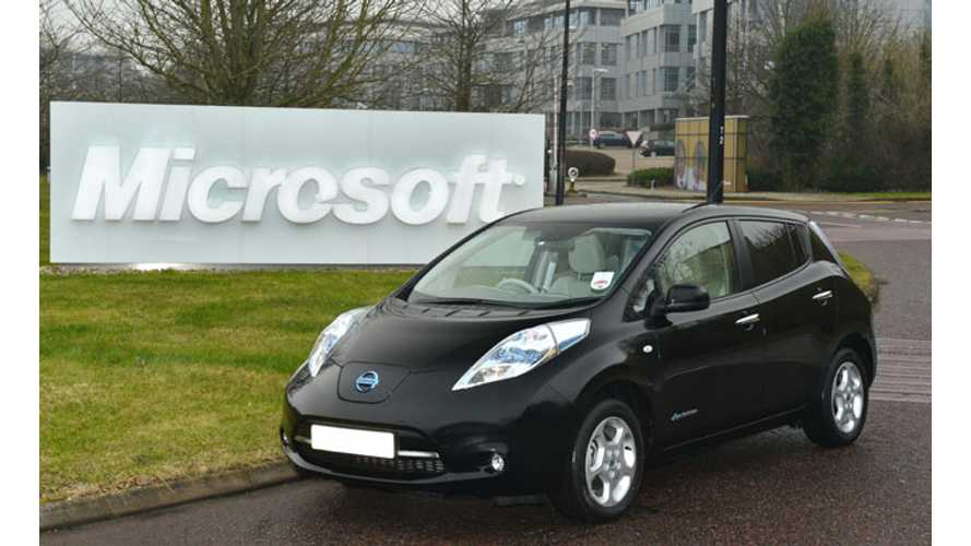 Microsoft Buys Pair of Nissan LEAFs