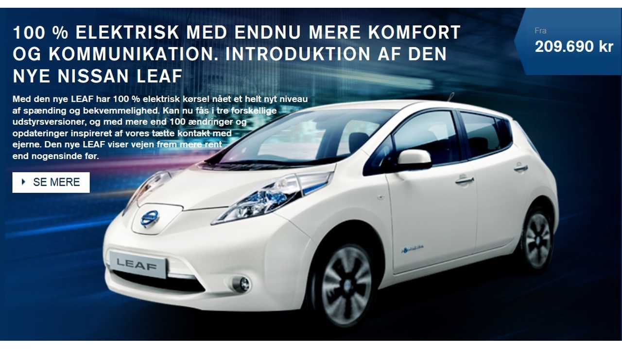 And The World's Largest Private EV Order Goes To...The Nissan LEAF in Denmark?