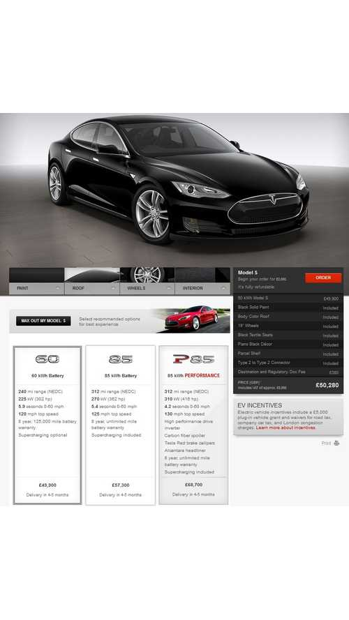 First UK Tesla Model S Delivery Set To Occur Today