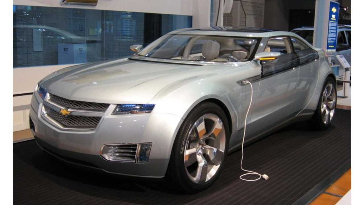 The Chevrolet Volt Concept Car Bowed At The 2007 NAIAS (or Detroit Auto Show if you will)