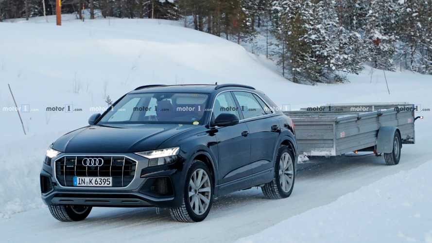 Audi Q8 PHEV spy photos