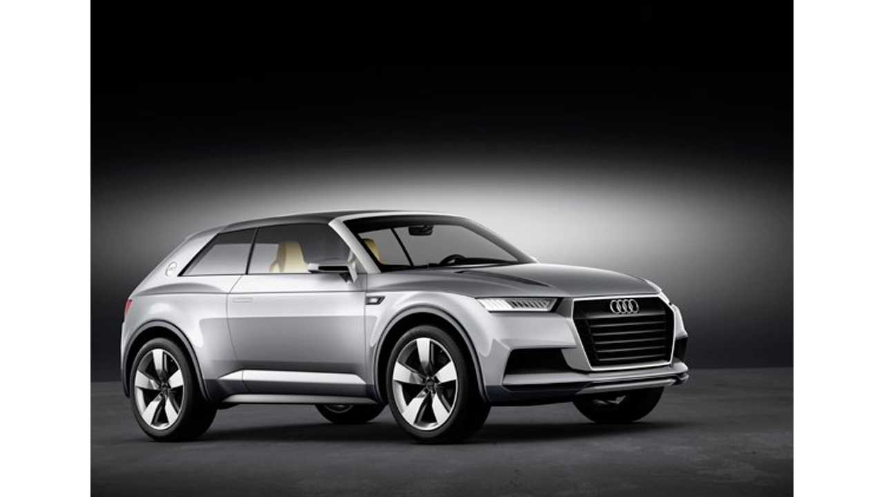 Audi Crosslane Coupe Delivers About 50 Miles Of Electric Range