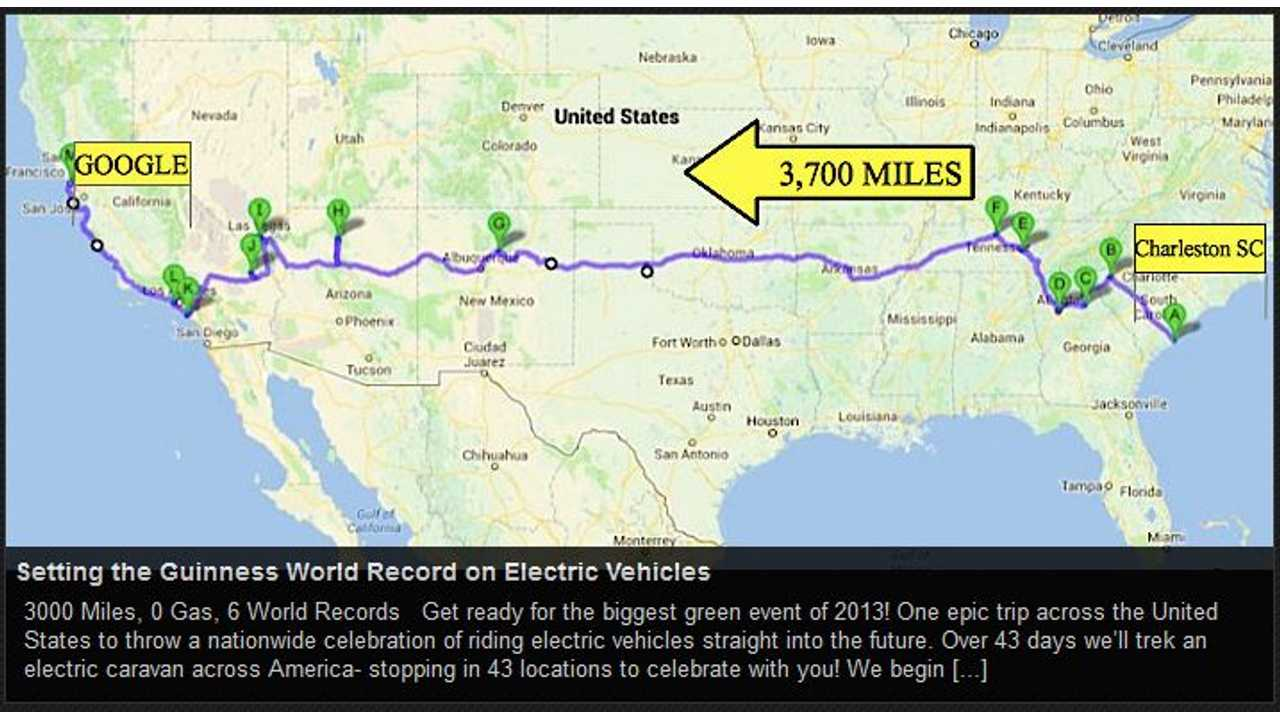 Ride the Future Aims to Set 3 Guinness World Records for Electric Vehicles With Coast-to-Coast 3,000-Mile Trip This Summer