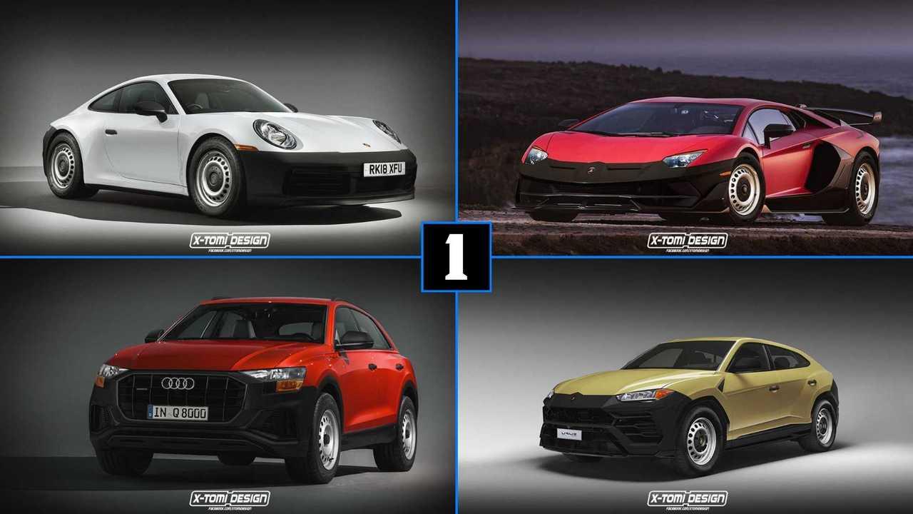 Porsche 911, Lamborghini Aventador SVJ, Lamborghini Urus, Audi Q8
