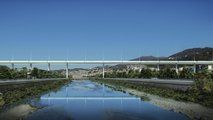 rendering nuovo ponte genova
