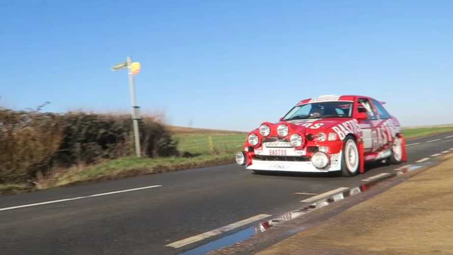 Driving A Homemade Ford Escort RS Cosworth World Rally Car