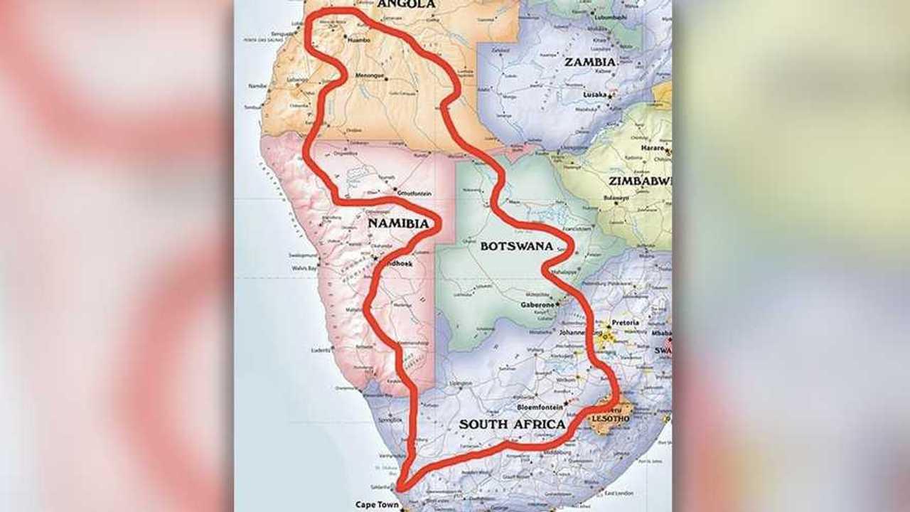 Dakar South Africa Route