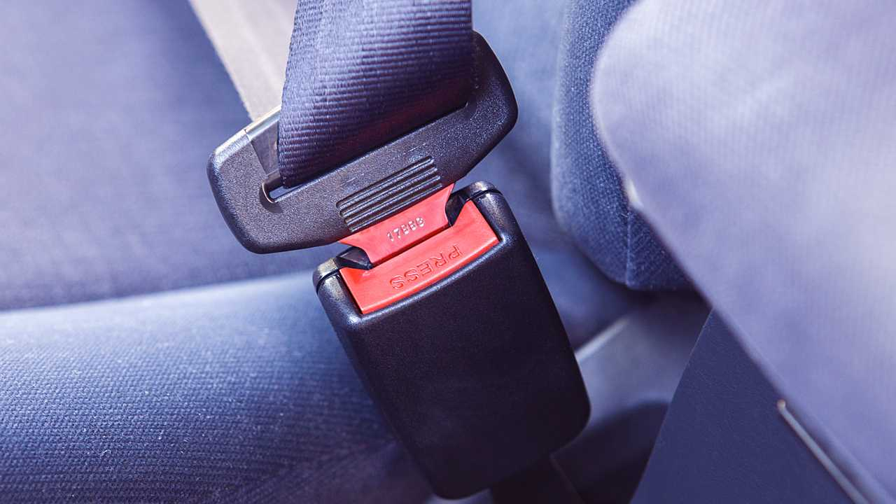 Close up of car seatbelt