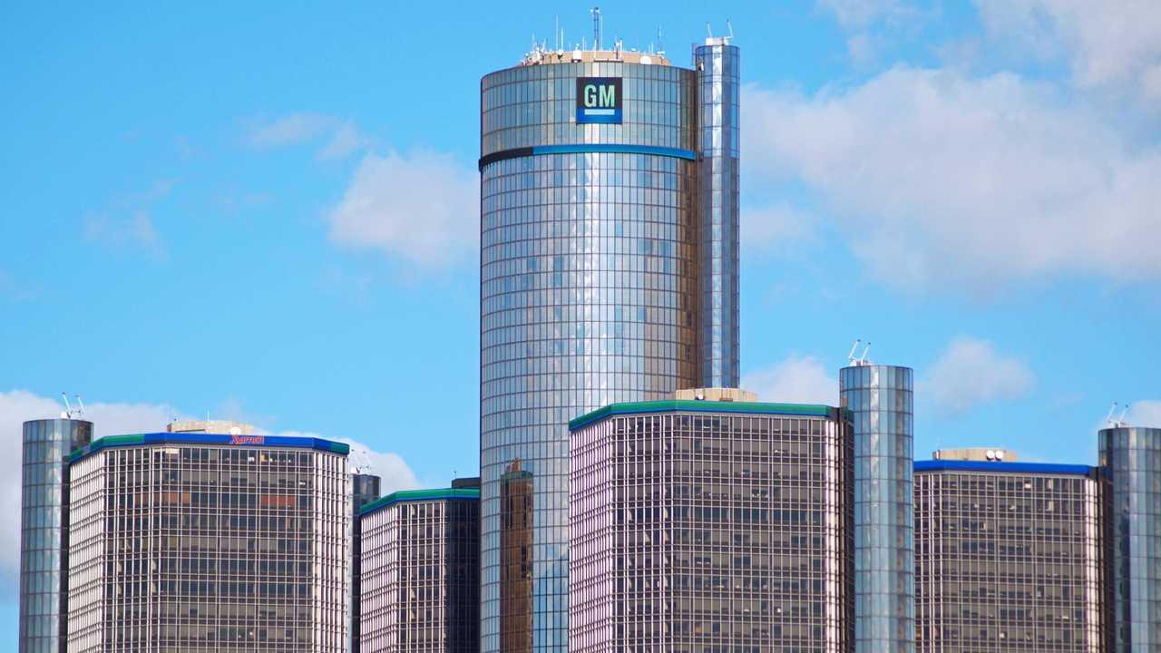 General Motors headquarters in downtown Detroit Michigan USA