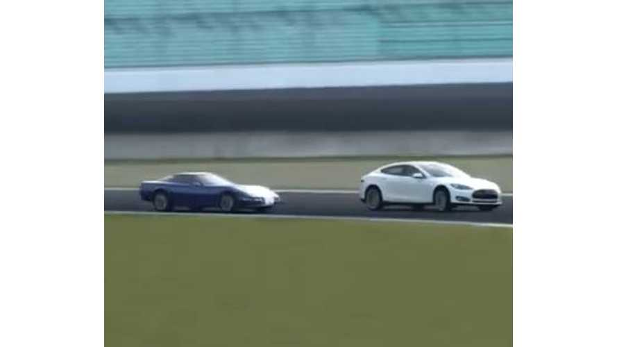 Video: Tesla Model S Signature Performance Hits the Track in GT6