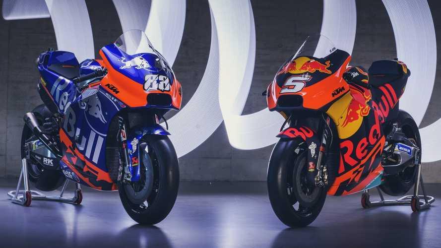 KTM imita el modelo Red Bull F1 en el lanzamiento de su MotoGP