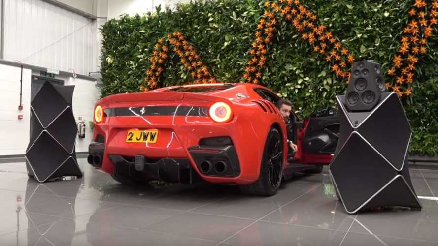 Ferrari V12 versus £65,000 speakers: Which one is louder?