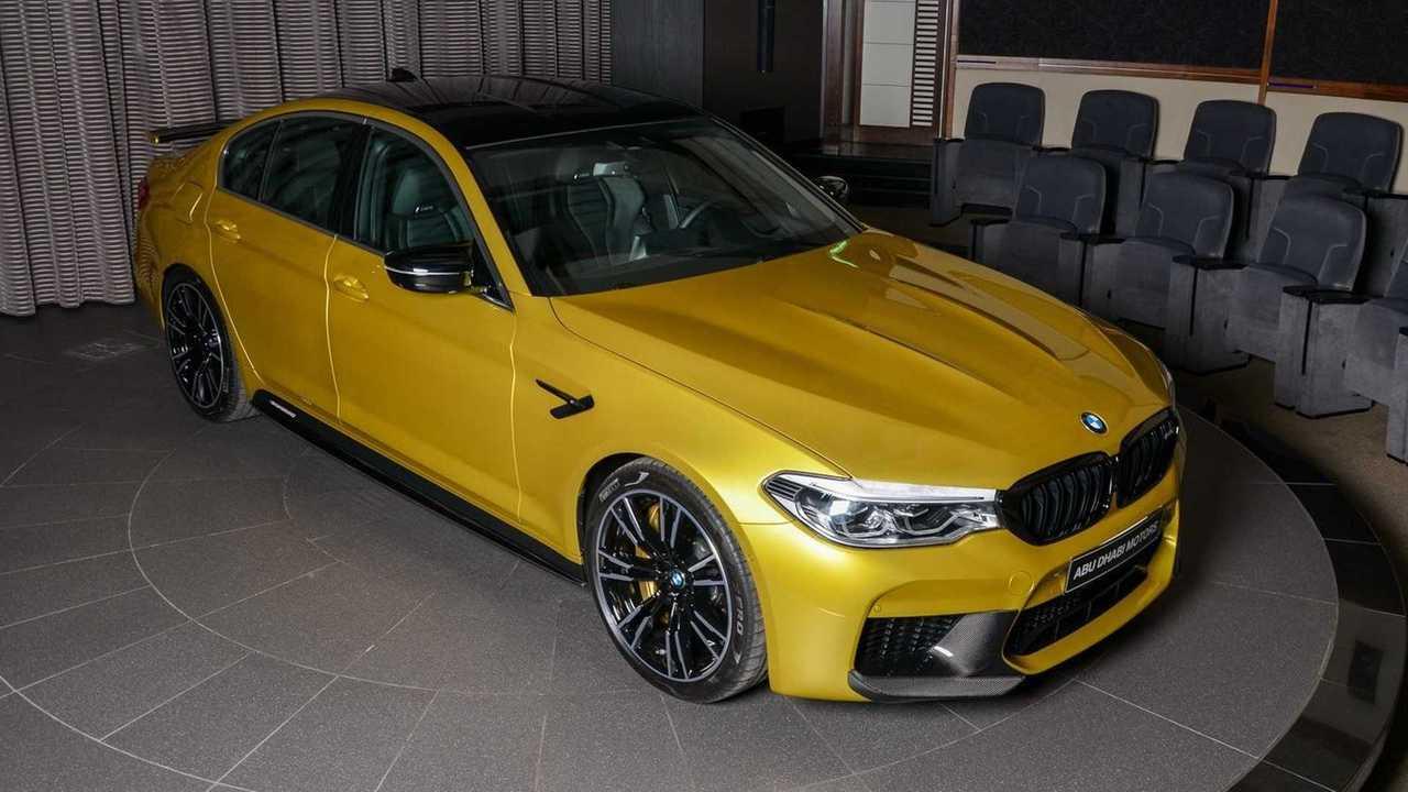 BMW M5 Competition Austin Yellow