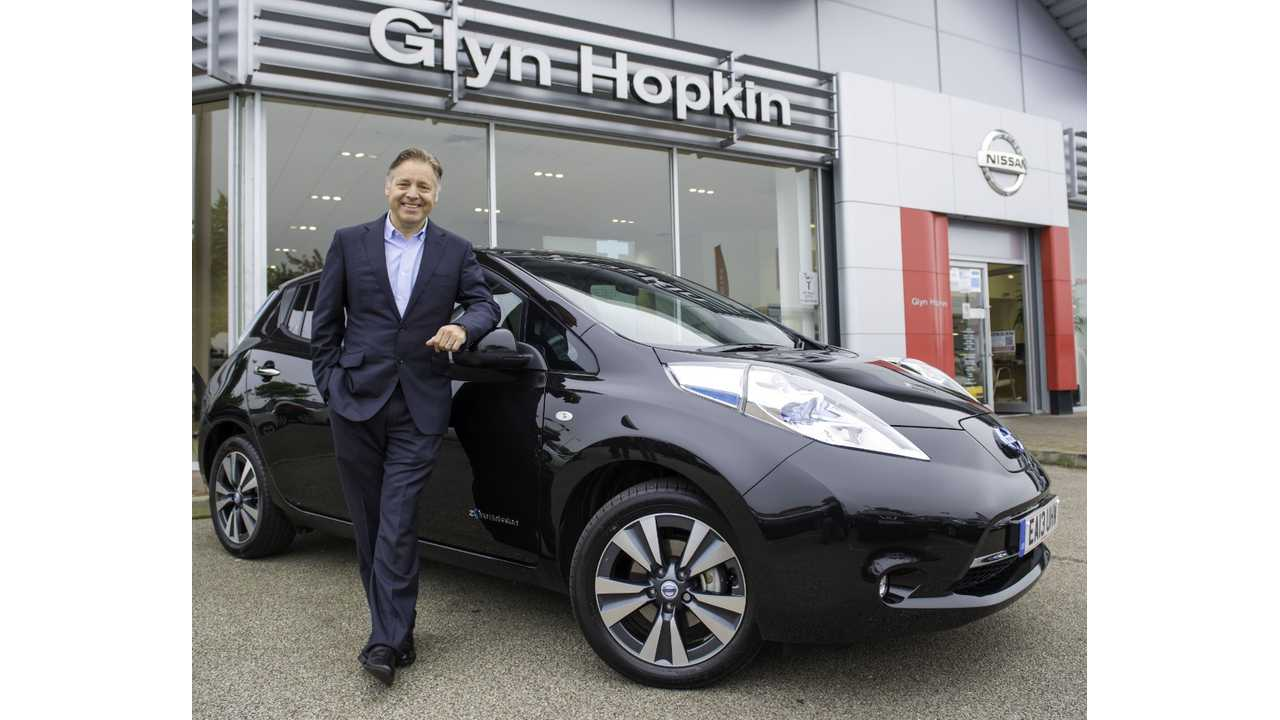 Outside The US, The First UK Built And Sold Nissan LEAF Was Delivered in May 2013