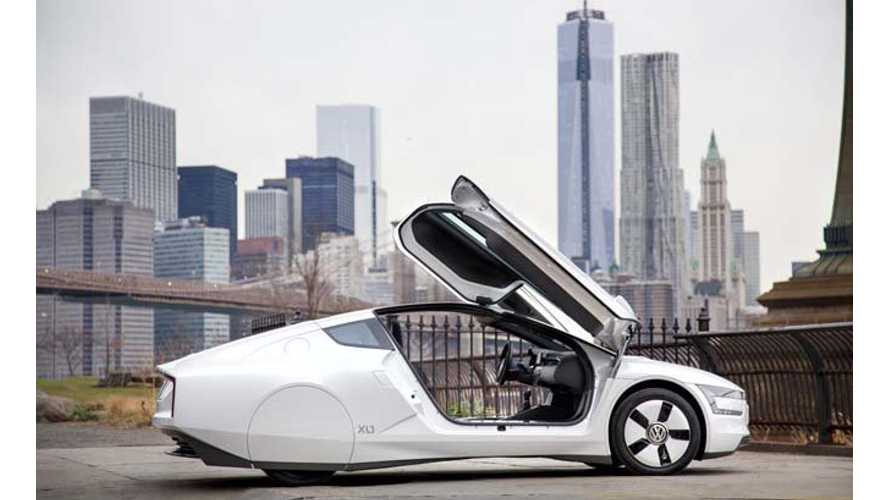 Volkswagen XL1 Shows Up in New York City