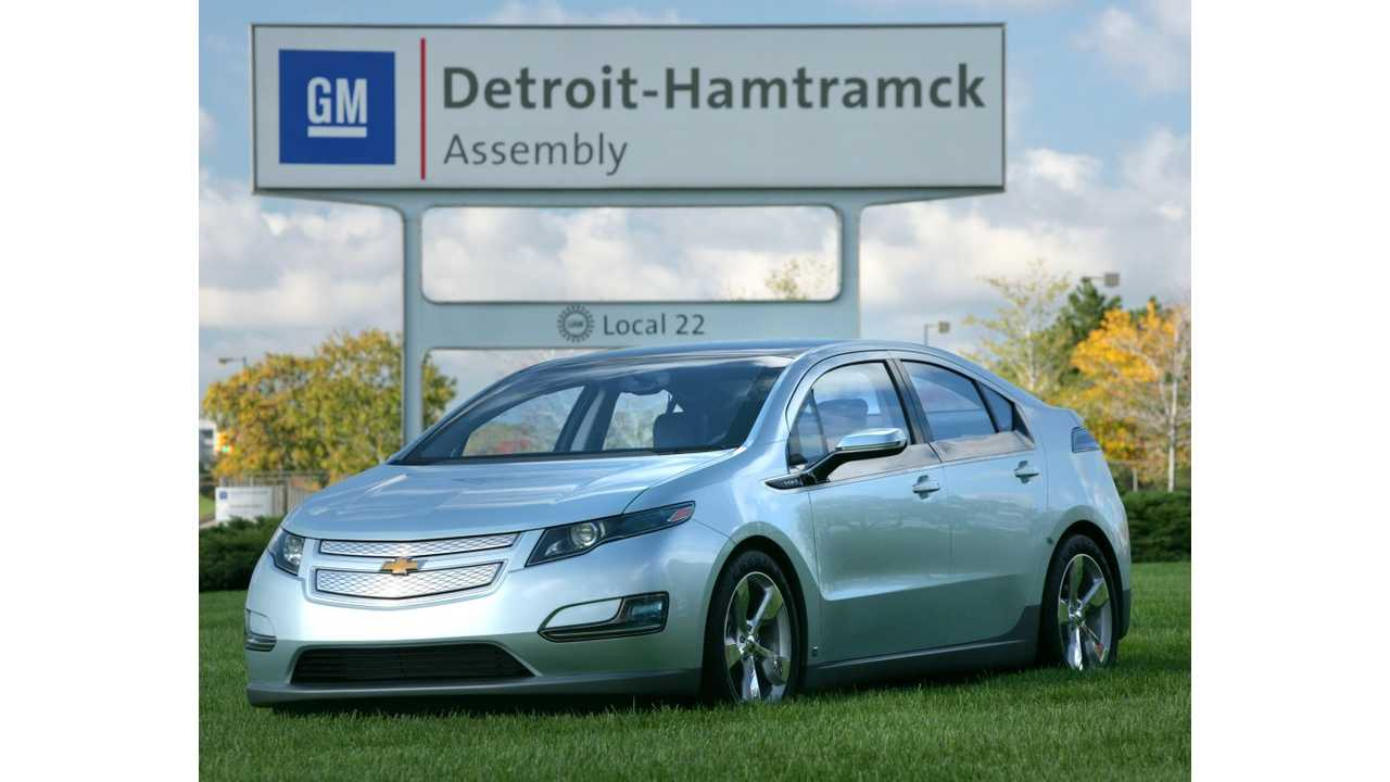Chevrolet Volt, Built In Hamtramck, Michigan