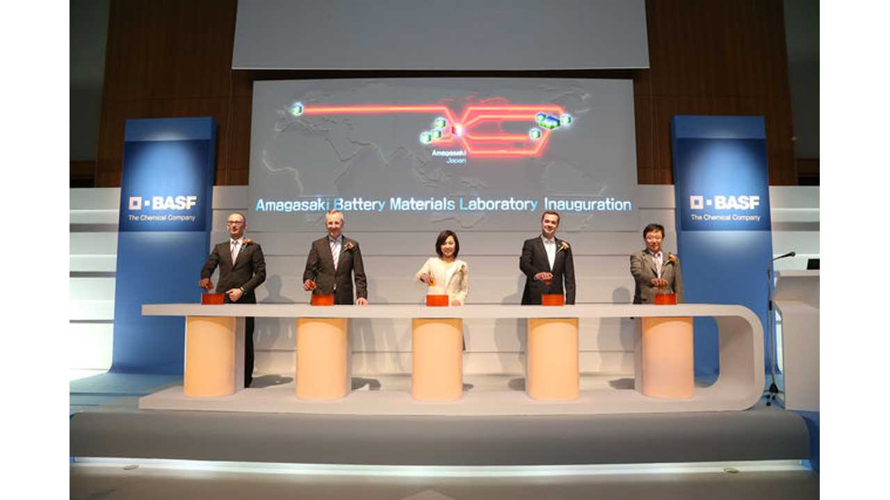 BASF Opens Lithium-Ion Battery Research and Development Center in Japan