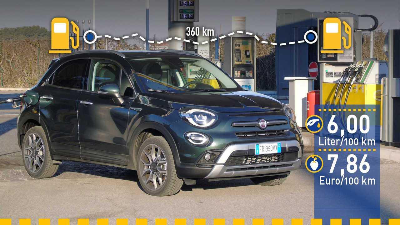 Fiat 500X Verbrauchstest