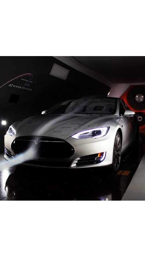 Leilani Munter's Tesla Model S Hits The Wind Tunnel!  (video)