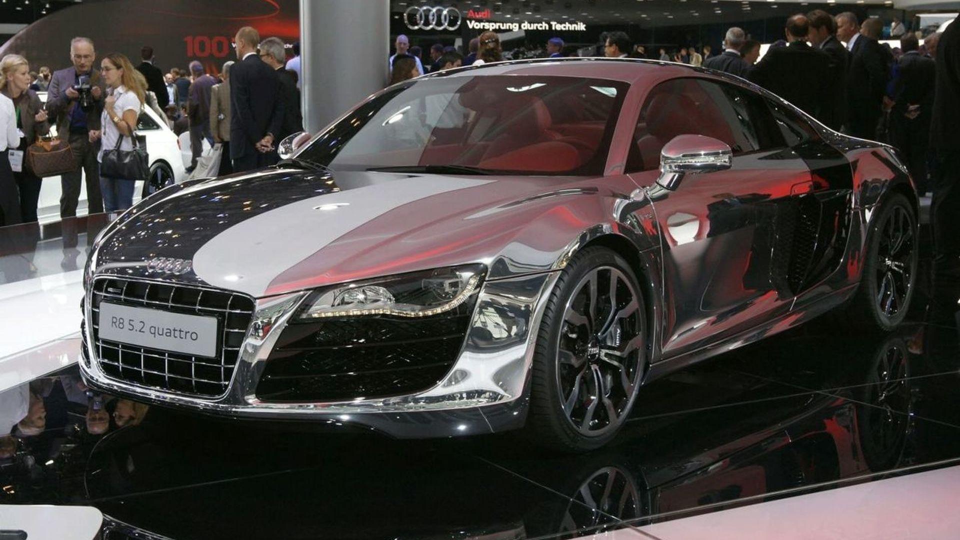 Audi R FSI Quattro Dressed In Chrome Displayed In Frankfurt - Audi r8 quattro