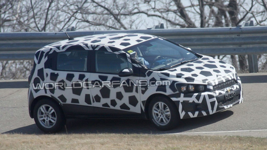 2012 Chevrolet Aveo Trades Black Camouflage For Spots Reveals New