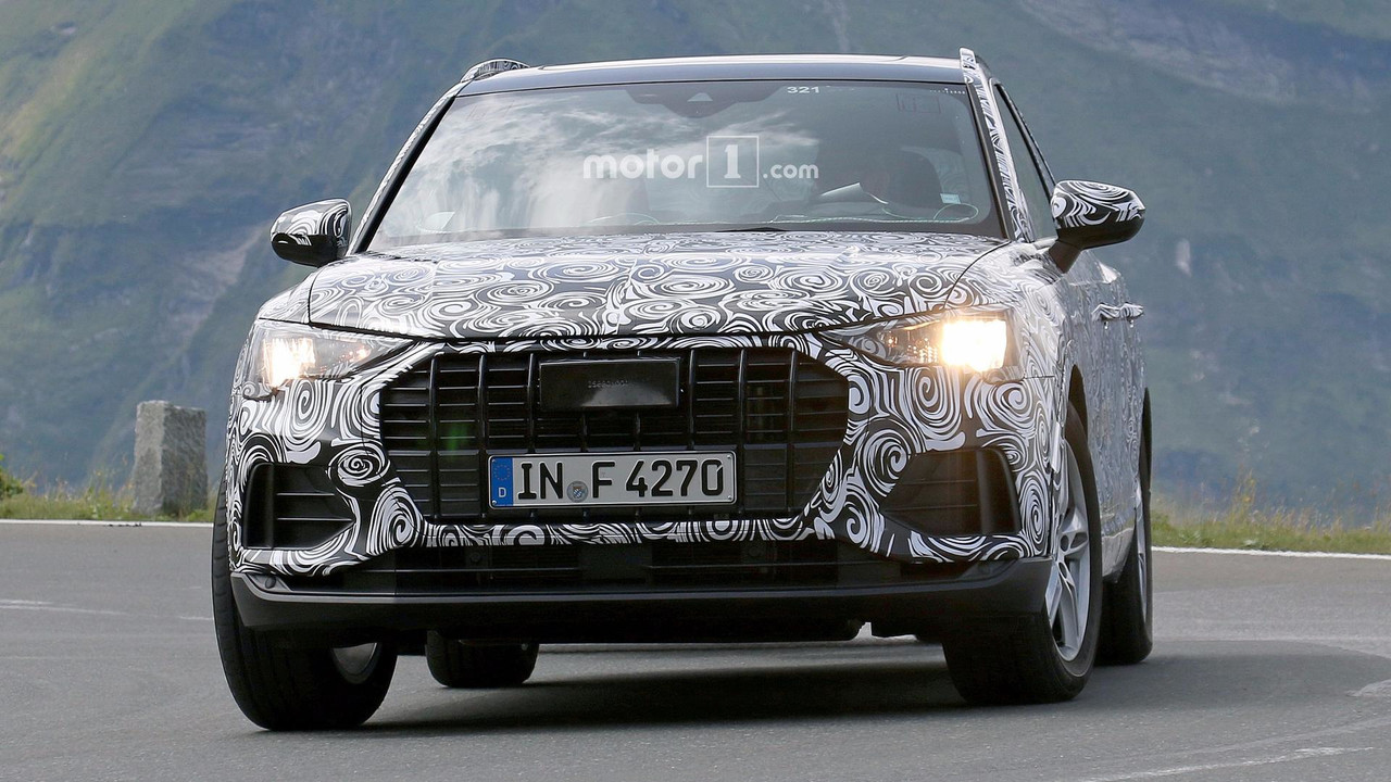 Audi Q Test Driver Smiles For The Spy Camera - Audi q3 hybrid