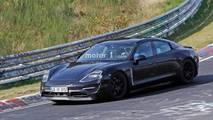 Porsche Mission E Spy Photos Nürburgring