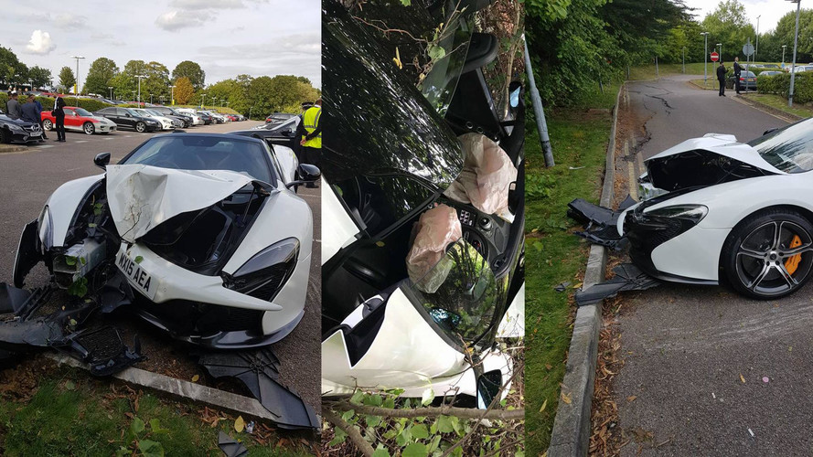 Parkolóban törtek rommá egy kölcsönzött McLaren 650S-t